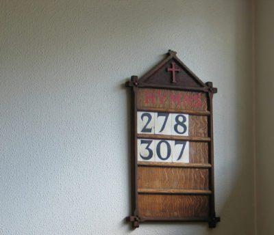 hymn numbers board